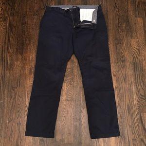 Navy Chino Dress Pants